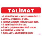 Talimat Levhaları (7)