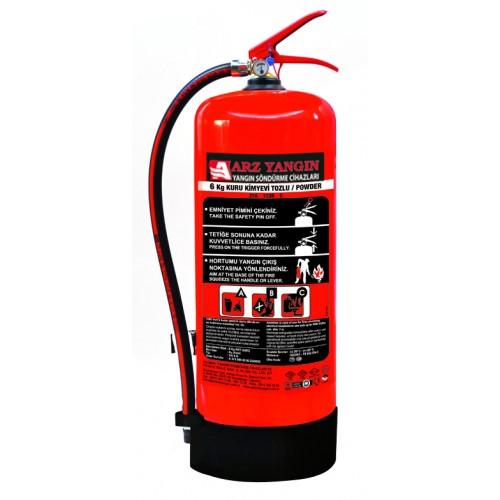 6 Kg Yangın Söndürme Cihazı Kuru Kimyevi Tozlu